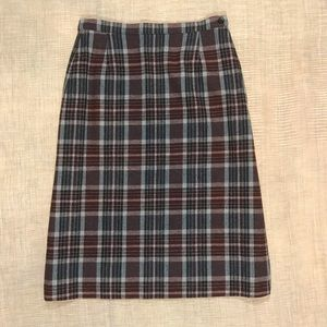 Pendleton Vintage 100% Wool Skirt